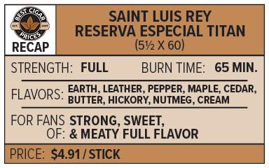 Saint Luis Rey Reserva Especial Cigar Profile