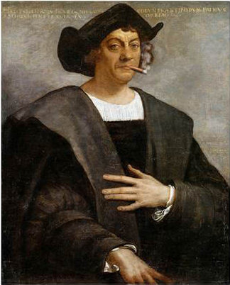 Portrait of Columbus with Cigar