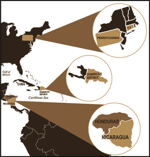 Countries of Origin for Cigars